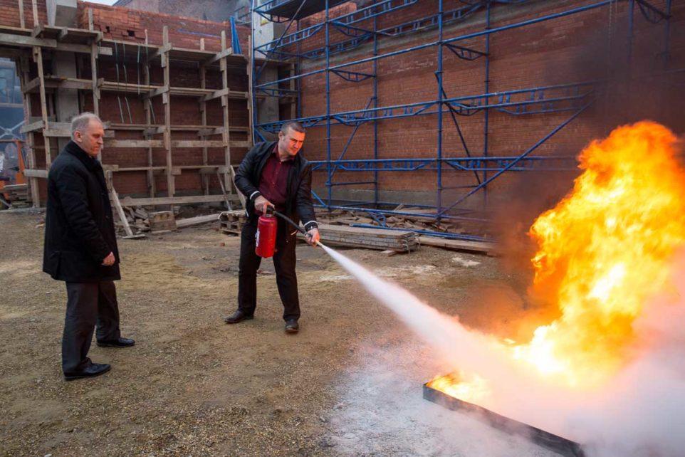 проведение противопожарной тренировки