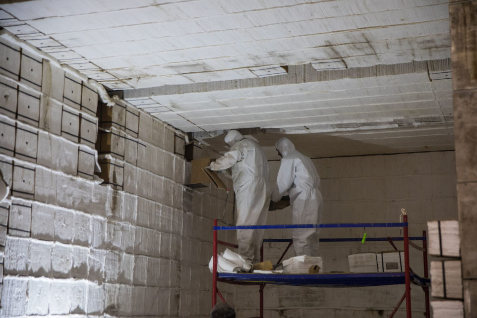 монтаж и ввод в эксплуатацию камерной 25-ти тонной печи