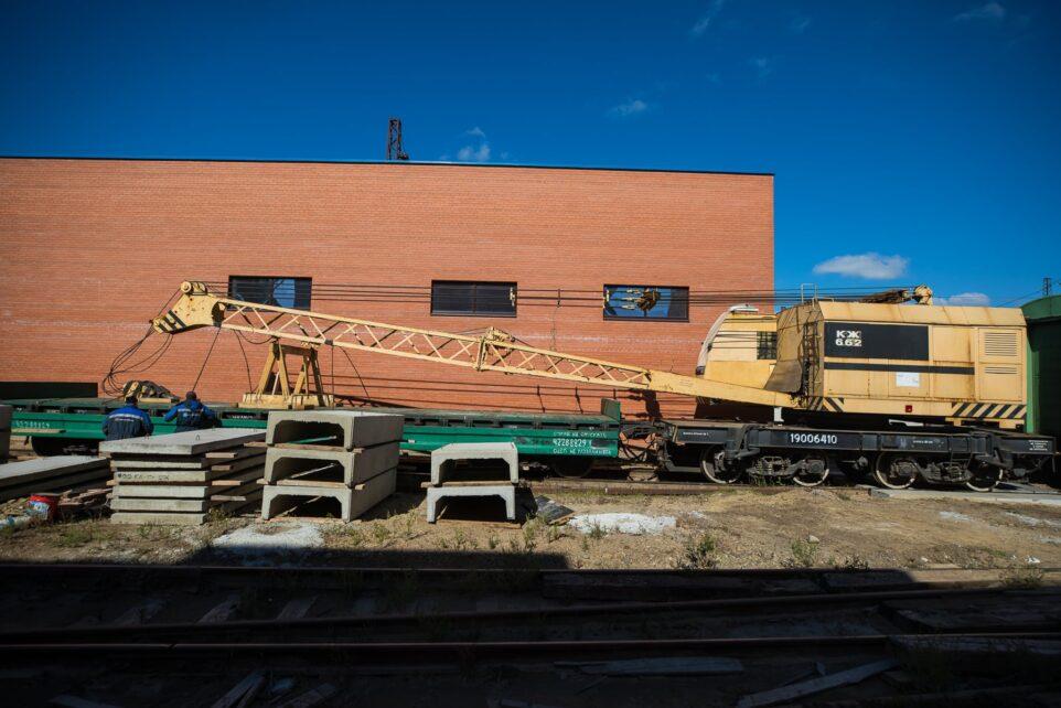 Железнодорожный погрузочный кран